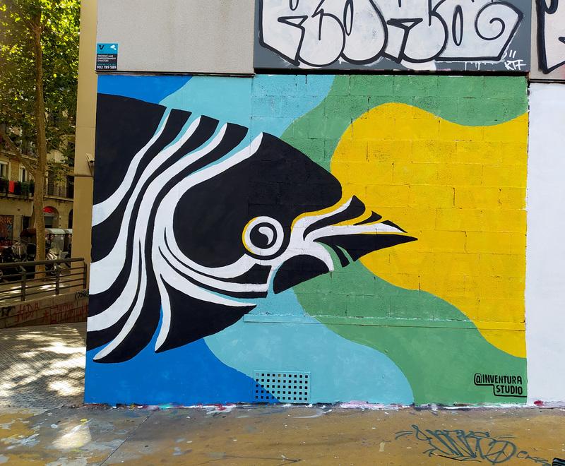 Wallspot - Inventura Studio - Tres Xemeneies - Inventura Studio - Barcelona - Tres Xemeneies - Graffity - Legal Walls - Il·lustració, Altres