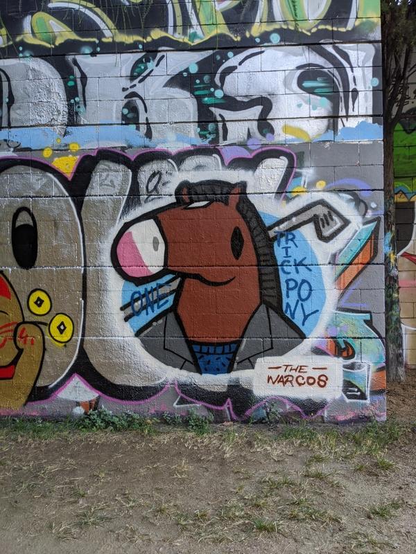 Wallspot - Warcos - The American Horseman - Barcelona - Drassanes - Graffity - Legal Walls - Il·lustració
