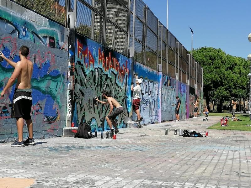 Wallspot - KSKONE - KSK1 - Paint Day - Barcelona - Drassanes - Graffity - Legal Walls - Lletres