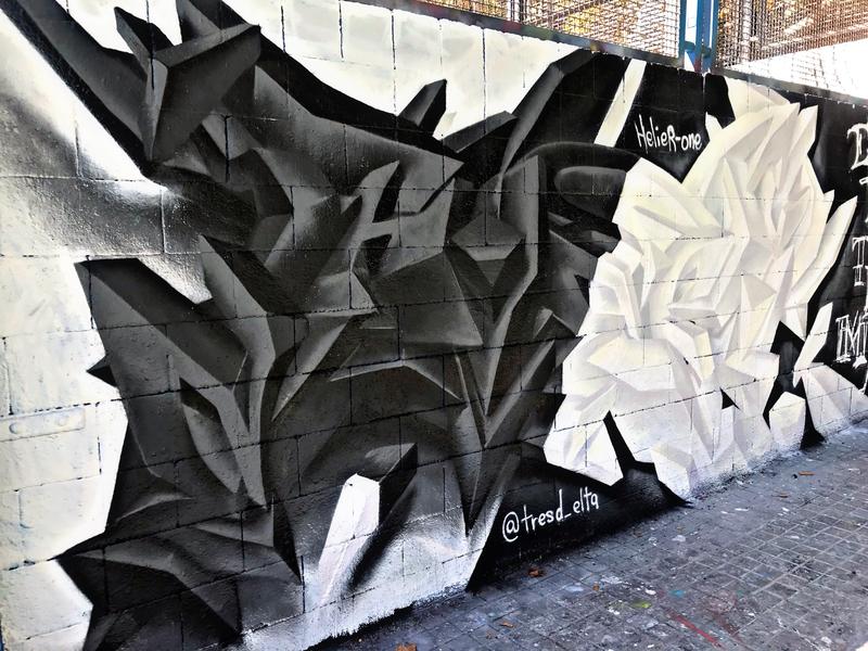 Wallspot - el_hier - black and white - Barcelona - Drassanes - Graffity - Legal Walls - Lletres, Il·lustració, Altres