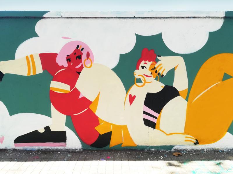 Wallspot - gemfontanals - Rooftop - Barcelona - Agricultura - Graffity - Legal Walls - Ilustración
