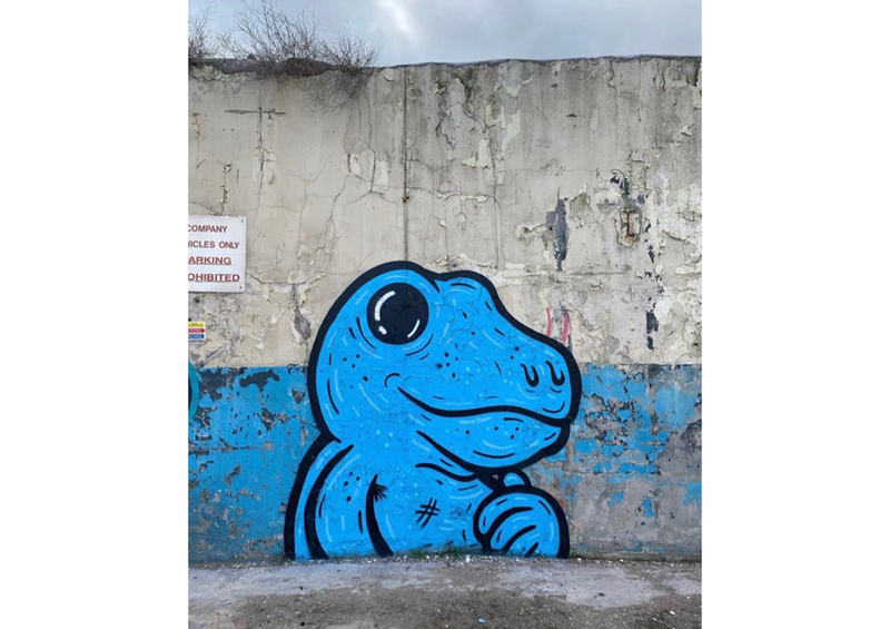 Wallspot - KMG - Camo Dregs - Dundee - Mary Ann Lane - Graffity - Legal Walls - Ilustración