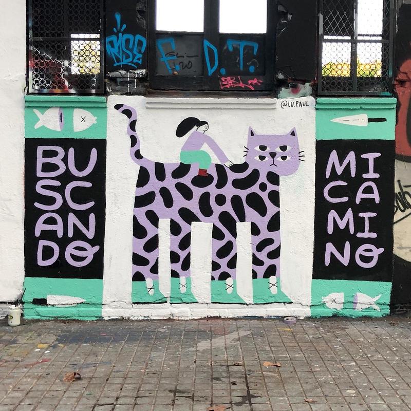 Wallspot - lu.paul - Buscando mi camino - Barcelona - Agricultura - Graffity - Legal Walls -