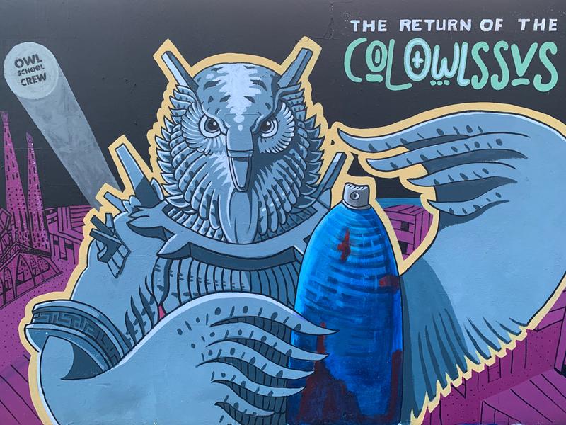 Wallspot - owlschoolcrew - Barcelona - Parc de la Bederrida - Graffity - Legal Walls -