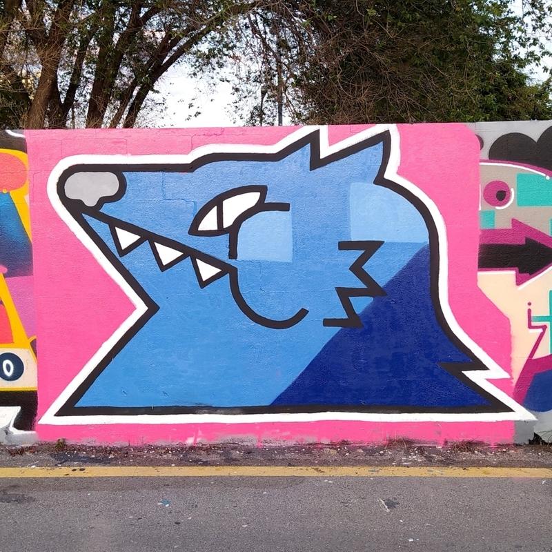 Wallspot - MOLERA - Barcelona - Parc de la Bederrida - Graffity - Legal Walls - Ilustración