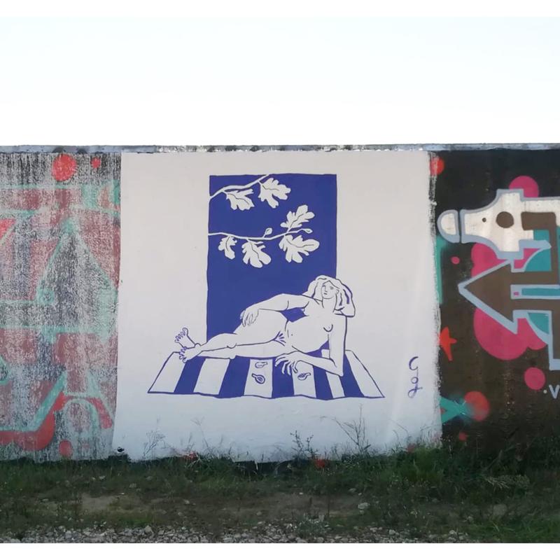 Wallspot - Garoine - Barcelona - Forum beach - Graffity - Legal Walls - Il·lustració