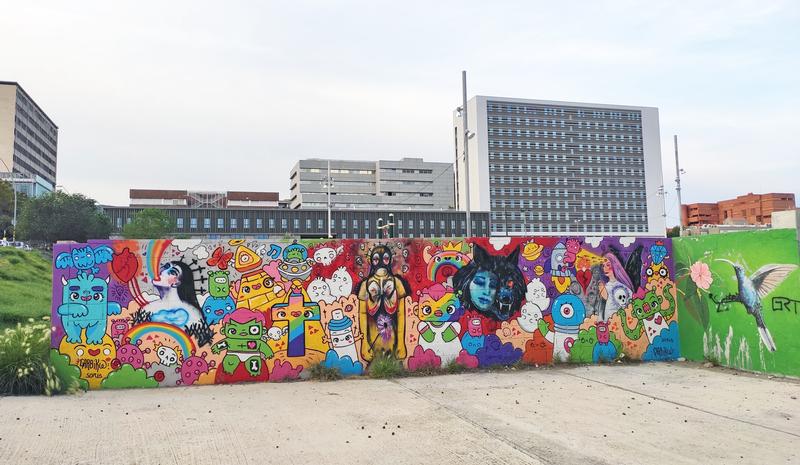 Wallspot - Garbi KW - Garbi KW + Ruth Soria - Barcelona - Parc de la Bederrida - Graffity - Legal Walls - Ilustración