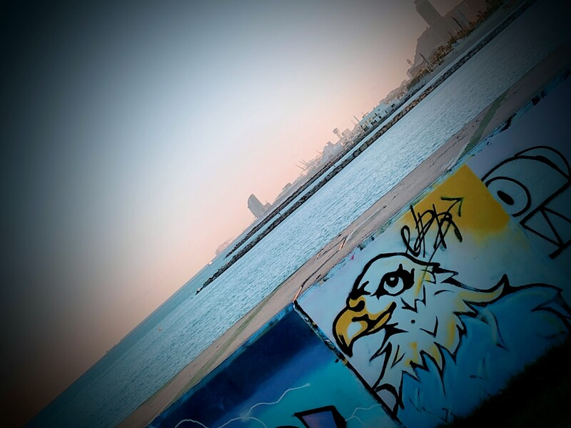 Wallspot - Nathan_br - Canary Eagle - NBK - Barcelona - Forum beach - Graffity - Legal Walls - Il·lustració