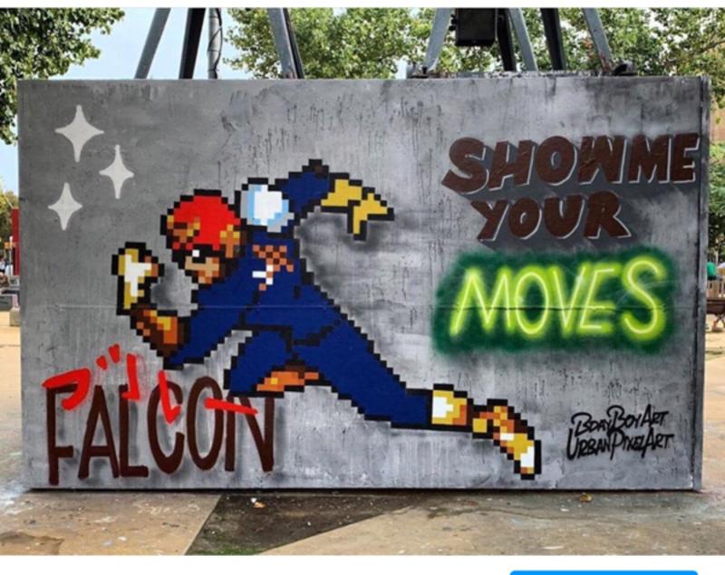 Wallspot - BDAY BOY ART - Show me your moves w/ @urbanpixelart - Barcelona - Tres Xemeneies - Graffity - Legal Walls - Letters, Illustration, Stencil
