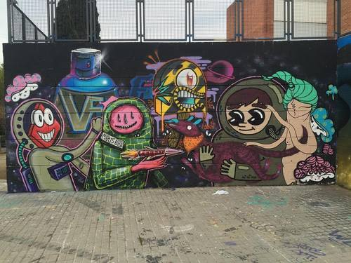 Drassanes - 4 Bulgarian street Artists vs Konair, Secle, Mali Mowka y Rombos