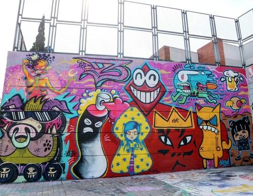 Mural 30 Cumpleaños Rombos.