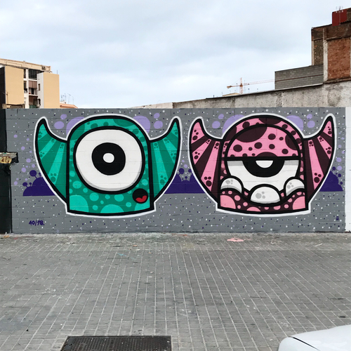 Wallspot - Mr.M - Poble Nou - Barcelona - Poble Nou - Graffity - Legal Walls -