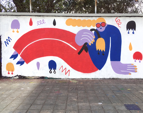 Wallspot - EmilyE - Agricultura - EmilyE - Barcelona - Agricultura - Graffity - Legal Walls - Illustration