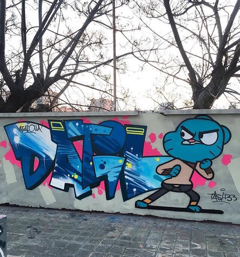 Wallspot - DATILthedogg -  - Barcelona - Agricultura - Graffity - Legal Walls -