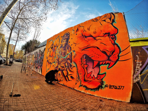 Wallspot - Berol377 - Agricultura - Barcelona - Agricultura - Graffity - Legal Walls - Illustration