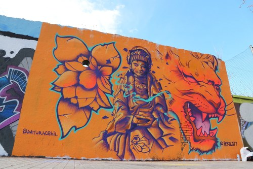 Wallspot -senyorerre3 - Art DATURACEBIL & BEROL377 - Barcelona - Agricultura - Graffity - Legal Walls - Illustration