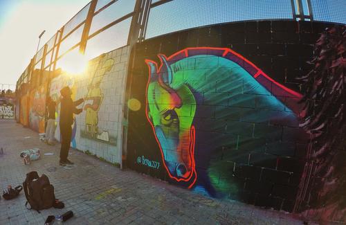 Wallspot - Berol377 - Drassanes - Barcelona - Drassanes - Graffity - Legal Walls - Il·lustració