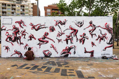 Wallspot -JOAN PIÑOL - JOAN PIÑOL - Projecte 27/05/2018 - Barcelona - Tres Xemeneies - Graffity - Legal Walls - Ilustración - Artist - @Axeldraw