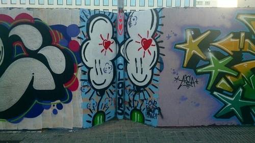 Wallspot - amvirzi - Clouds tied 0.18 - Barcelona - Poble Nou - Graffity - Legal Walls - Illustration