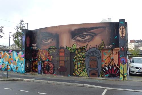 Wallspot - Tarek - Parking du Colombier - Tarek, Thiago Ritual + aero - Rennes - Parking du Colombier - Graffity - Legal Walls - Illustration
