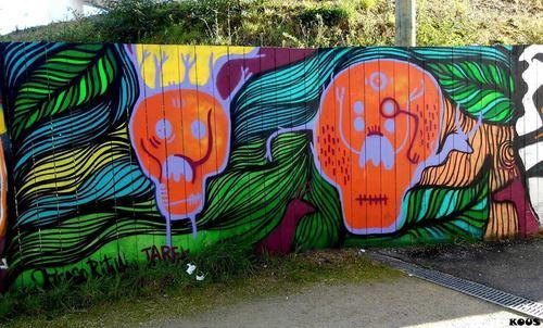 Wallspot - Tarek - St-Hélier Kronembourg - Tarek et Thiago ritual - Rennes - St-Hélier Kronembourg - Graffity - Legal Walls - Illustration