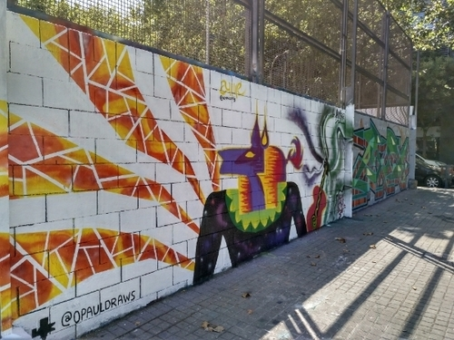 Wallspot - anneartig - Anubis - Barcelona - Drassanes - Graffity - Legal Walls - ,