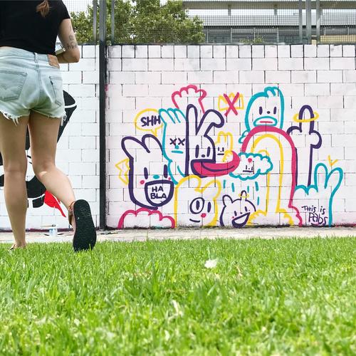 Wallspot - pabs - bla - Barcelona - Drassanes - Graffity - Legal Walls - Illustration