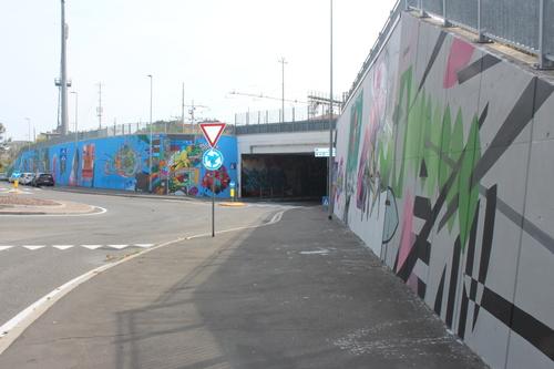 Wallspot -Faber - McLuc Culture - Segni Urbani 2018 - Parma 07/08/09 - settembre 2018 - Parma - Ponte Europa: Segni Urbani. Parma, Italia - Graffity - Legal Walls - Letters, Illustration, Stencil