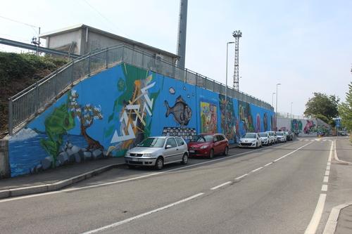 Wallspot - Zyo Faber - Ponte Europa: Segni Urbani. Parma, Italia - Zyo Faber - Parma - Ponte Europa: Segni Urbani. Parma, Italia - Graffity - Legal Walls -