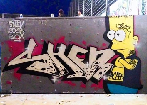 Wallspot - shen -  - Barcelona - Tres Xemeneies - Graffity - Legal Walls -