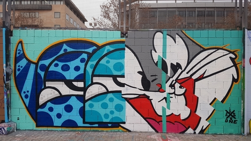 fragments of Bugs Bunny and Mr.M