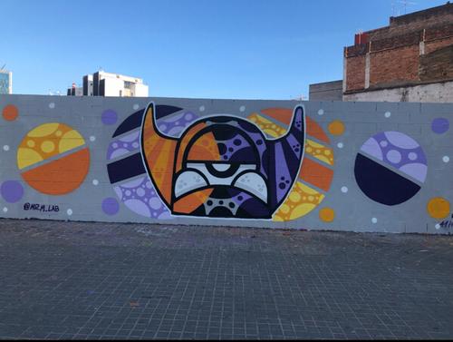 Wallspot -BCN Urban Art - Mr.M  - Barcelona - Poble Nou - Graffity - Legal Walls - Illustration - Artist - Mr.M