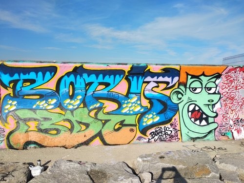 Wallspot - Boris Man - Forum beach - Barcelona - Forum beach - Graffity - Legal Walls -