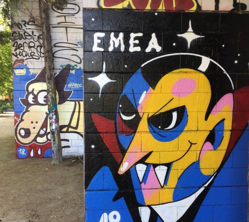 Wallspot - vamp - Emea + Verni - Barcelona - Drassanes - Graffity - Legal Walls - Illustration