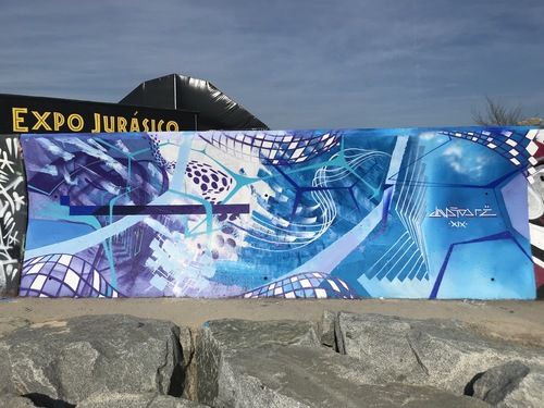 Wallspot - Drë - El Fluir Constante de la Brisa y la Marejada - Barcelona - Forum beach - Graffity - Legal Walls - Others