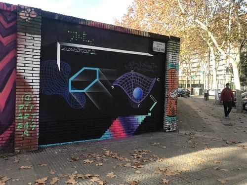 Wallspot - Drë - Geometría Aplicada - Barcelona - Selva de Mar - Graffity - Legal Walls - Altres