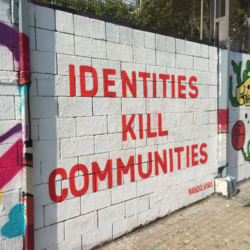 Wallspot - Nando Vivas - IDENTITIES KILL COMMUNITIES - Barcelona - Drassanes - Graffity - Legal Walls -