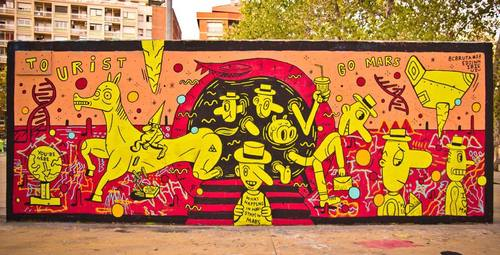 Wallspot -Info Wallspot - Info Wallspot - Project 18/09/2019 - Barcelona - Tres Xemeneies - Graffity - Legal Walls -  - Artist - Ibie