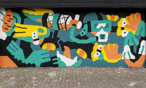 Wallspot - Thijs Lansbergen - Driver - Rotterdam - Croos - Graffity - Legal Walls - Illustration