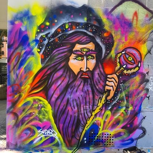 Wallspot -sudazz - El Mago - Barcelona - Tres Xemeneies - Graffity - Legal Walls - Ilustración