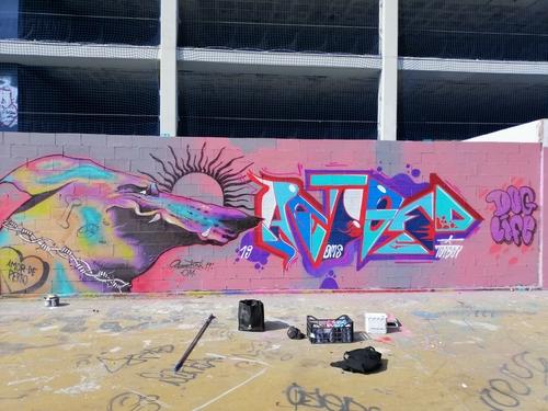 Wallspot - Aram'rah - Tres Xemeneies - Barcelona - Tres Xemeneies - Graffity - Legal Walls - Ilustración