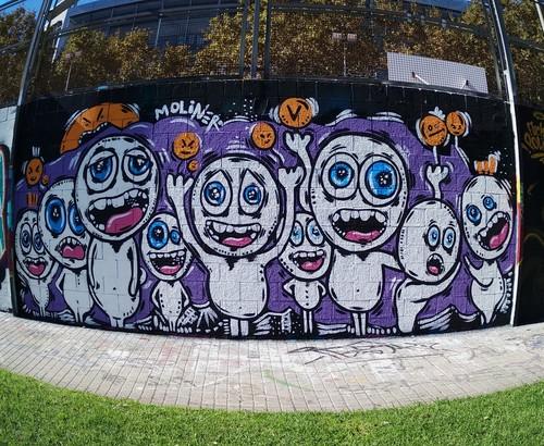 Wallspot - natalia molinero - Visitors - natalia molinero - Barcelona - Drassanes - Graffity - Legal Walls - Ilustración