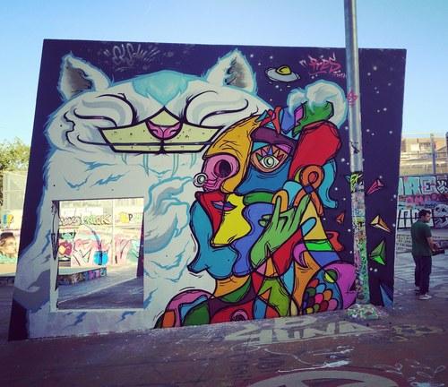 Wallspot - Pres Fusion - CUBE tres xemeneies - Pres Fusion - Barcelona - CUBE tres xemeneies - Graffity - Legal Walls - Ilustración