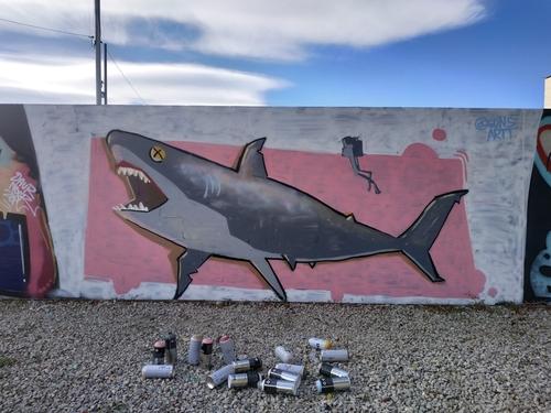 Wallspot - @gonsartt -  - Barcelona - Parc de la Bederrida - Graffity - Legal Walls - Illustration