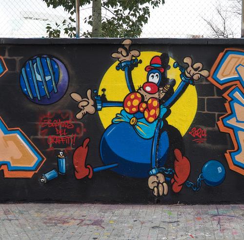 Wallspot - Radok - Cool world Yes - Radok - Barcelona - Selva de Mar - Graffity - Legal Walls - Lletres, Il·lustració
