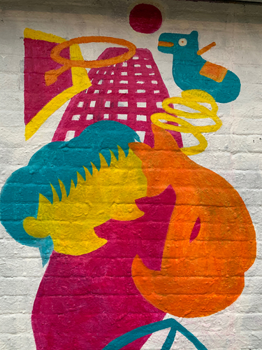 Wallspot - lizaxkoval - twins, fox, playground  - Rotterdam - Croos - Graffity - Legal Walls - Illustration