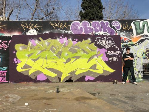 Wallspot - mose375 -  - Barcelona - Tres Xemeneies - Graffity - Legal Walls -