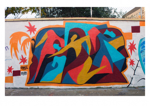 Wallspot - erratic - Agricultura 2018 - Barcelona - Agricultura - Graffity - Legal Walls - Letters, Illustration