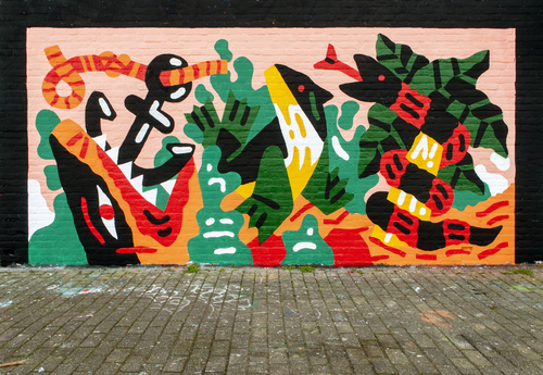 Wallspot - Thijs Lansbergen - Thijs Lansbergen - Rotterdam - Croos - Graffity - Legal Walls - Illustration