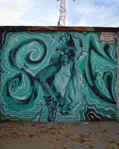 Wallspot -Splatrs - Mural art Selva de Mar - Barcelona - Selva de Mar - Graffity - Legal Walls - Illustration - Artist - ABSURE2000